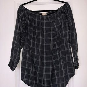 UO FLANNEL DRESS/TUNIC